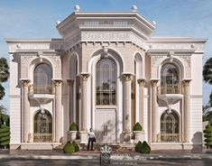 Super new classic elegant and luxury Palace in UAE on Behance Classic House Exterior, Classic House Design, House Front Design, Dream House Exterior, Classic Architecture, Facade Architecture, Amazing Architecture, Villa Design, Facade Design