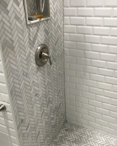 """The Herringbone Tile Collection at TileBuys.com features classic herringbone wall and floor tiles in premium Carrara marble as well as contemporary mixed material herringbone mosaics such as Calacatta Gold with Mother of Pearl accent as well as Carrara Marble & Lady Grey mixed marble mosaic. Also featured: contemporary long herringbone pattern mosaic tile - 1""""x6"""" herringbone tile in Carrara marble 
