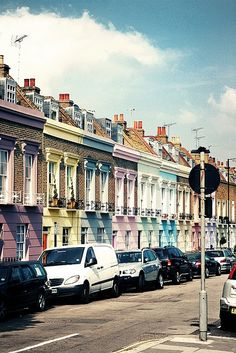 Colorful houses of Camden, London