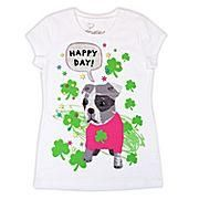 Ships free- Girls Girlyfied Happy Day Pup Graphic Tee - Girls Sz M (10/12)