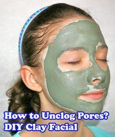 Clay facial masks to unclog poores
