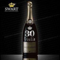 Champagne Louis Roederer Magnum da 1,5 litri. Bottiglia personalizzabile con nome ed età del festeggiato.
