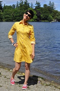 Patsy's sunshiny Rosa dress - sewing pattern by Tilly and the Buttons