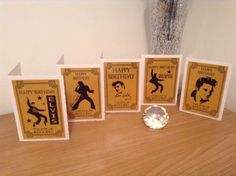 #Elvis presley set of 5 #birthday #cards,  View more on the LINK: http://www.zeppy.io/product/gb/2/322034068796/