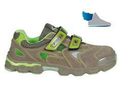 Priedušné, semišové sandále  WALKING BEIGE S1 P SRC .