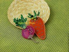 Купить Something special for my Bunny :)) - брошь, брошь из кожи, овощи, морковка