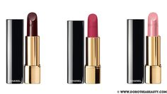 Chanel Holiday 2015 Collection: Chanel Rouge Allure in Rouge Noir, Chanel Rouge Allure Velvet in La Merveilleuse and Chanel Rouge Allure in Vaporeuse