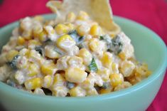 CORN DIP: Quick, easy, delicious, & cheap appetizer for a party or football game