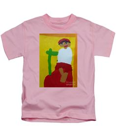 Patrick Francis Designer Kids Pink T-Shirt featuring the painting Italian Woman 2014 - After Vincent Van Gogh by Patrick Francis