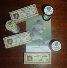 Corticelli Silk Thread...The Company Adopted The Kitten Logo In The Early 1900's