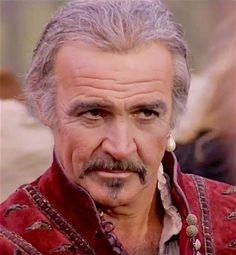 """In """"The Highlander,"""" Sean Connery plays an immortal who cannot die unless he is beheaded. Sean Connery Movies, Bald Man, Scottish Actors, Turner Classic Movies, James Bond Movies, Star Wars, 80s Movies, Vintage Movies, Movie Stars"""