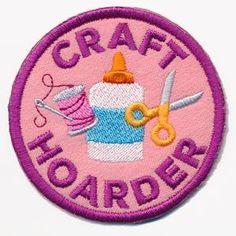 Crafty Merit Badges - Craft Hoarder (Patch)_image