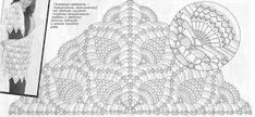 Tina's handicraft : 72 charts for crochet shawl Crochet Shawl Diagram, Poncho Au Crochet, Crochet Shawls And Wraps, Crochet Chart, Thread Crochet, Lace Knitting, Crochet Scarves, Crochet Motif, Crochet Doilies