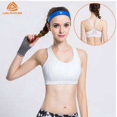 700ea137912ea 2017 Gym High Grade Sports Bra Women Fitness Running Bra Tops Yoga Bandage Exercise  Yoga Mesh Vests Shockproof Sport Tank Tops-in Sports Bras from Sports ...