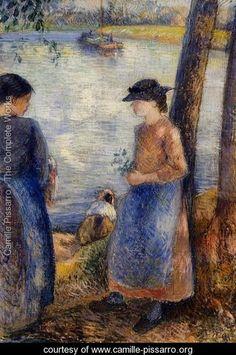 By the Water - Camille Pissarro - www.camille-pissarro.org