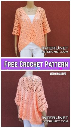 Crochet Summer Shrug Cardigan Free Crochet Patterns for Ladies