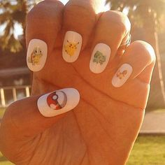 Our Pokemon nail decals are classic #TBT  by kawaiinailkandy