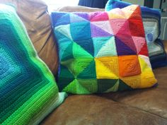 Beautiful triangle pillow by CraftyIntentions