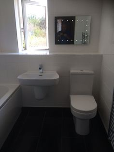 Mike from Halesowen showcases out illimunated LED mirror in this white bathroom #VPShareYourStyle