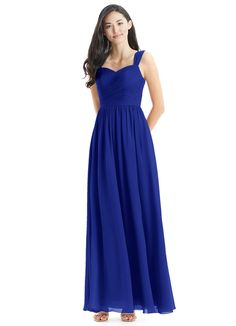 Shop Azazie Bridesmaid Dress - Azazie Zapheira in Chiffon. Find the perfect made-to-order bridesmaid dresses for your bridal party in your favorite color, style and fabric at Azazie. Allure Bridesmaid, Royal Blue Bridesmaid Dresses, Azazie Bridesmaid Dresses, Blue Wedding Dresses, Elegant Wedding Dress, Prom Dresses, Bridesmaids, Sapphire Blue Weddings, Plus Size Formal Dresses