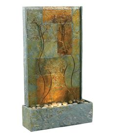 Take a look at this Green Ivie Natural Slate Floor Fountain by Design Craft on #zulily today!