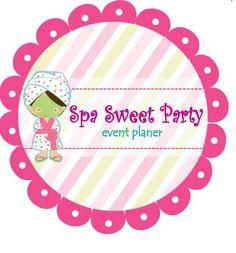 Fiesta Spa Para Niñas Y Pre Adolecentes Girl Spa Party, Mini Spa, Spa Birthday, Festa Party, Clip Art, Party Online, Spas, Mary Kay, Business Cards