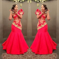 african style clothing Check out these super stylish African styles and start updating your wardrobe with some of them. There is no denying the fact that African fashion has swep African Wedding Dress, African Print Dresses, African Fashion Dresses, African Dress, African Outfits, African Attire, African Wear, African Women, Robes Glamour