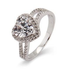 Kayla's Beautiful #Heart CZ Promise Ring $49