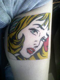 Lichtenstein tattoo.......love it.