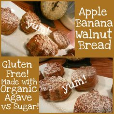 Guten-Free Banana Bread  - amazing!  You will wanna make this again and again.