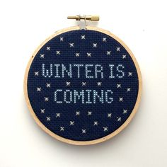 Winter is Coming game of thrones season 5 trailer Cross Stitch