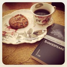 Morning coffee with Shakespeare