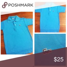 Lacoste Polo Shirt Pre•loved Lacoste Polo Shirt • Size 8 • Excellent condition • Color is a darker Turq color • Made of a Cotton/Poly blend Lacoste Shirts & Tops Polos