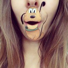 Pluto Mouth Makeup