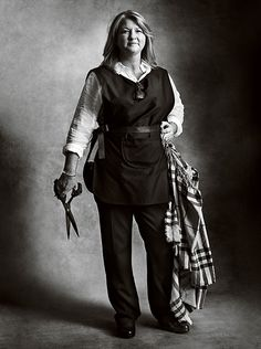 Burberry artisan, Wendy Forsyth, purling specialist for the Burberry cashmere scarf range. Shot by Mario Testino for the September 2016 campaign, as part of a series of portraits.