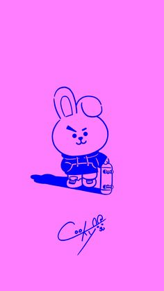 Explore Cooky Wallpapers on WallpaperSafari Bts Chibi, Bts Drawings, Line Friends, Bts Fans, About Bts, Bts Lockscreen, Bts Bangtan Boy, Cute Wallpapers, Phone Wallpapers
