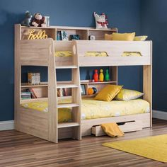 Orion Oak Wooden Storage Bunk Bed Frame Only - Single Oak Bunk Beds, Bunk Beds With Drawers, Wooden Bunk Beds, Bunk Beds With Storage, Bunk Beds With Stairs, Kids Bunk Beds, Bed Storage, Bedroom Storage, Storage Drawers