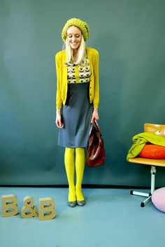 Pull+collants Jaune yellow Repinned by www.fashion.net