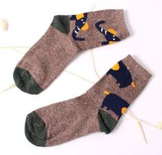 Thick Wool Cotton Cute Animal Socks