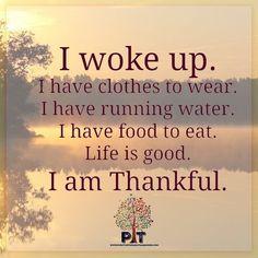 Practice gratitude every day.