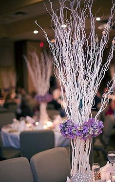 Winter Wedding Centerpieces With Branches | Pictures of Modern Wedding Centerpieces [Slideshow]
