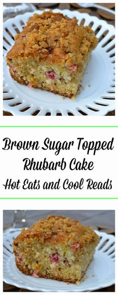 Sugar Topped Rhubarb Cake Recipe This cake is absolutely perfect with the tart rhubarb and crunchy brown sugar topping! Brown Sugar Topped Rhubarb Cake Recipe from Hot Eats and Cool ReadsReads Reads may refer to: Rhubarb Desserts, Rhubarb Cake, Rhubarb Recipes, Just Desserts, Delicious Desserts, Rhubarb Loaf, Rhubarb Scones, Cupcakes, Cupcake Cakes