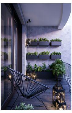 Small Balcony Design, Small Balcony Garden, Small Balcony Decor, Terrace Design, Garden Design, Modern Balcony, Balcony Plants, Outdoor Balcony, Balcony Ideas