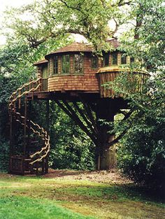 Spiral stairs...one day i'm going to give my kids a treehouse not nearly as nice as this! ha ha