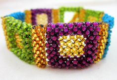 Regal Bracelet Cubic Right Angle Weave by BeadItbyDesign on Etsy, $65.00