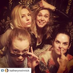 #Repost @katherynwinnick with @repostapp. ・・・ The chicks from #Vikings. 2 more episodes left...who's watching tonight? #sophistication