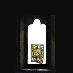 ORIGINAL Stained Glass Ooak Handmade GOTHIC SKULL Memento Mori Kiln Fired Leaded Victorian Silk Ribbon Goth Home Decor