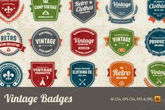 Check out Vintage badges by emberstudio on Creative Market