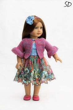 Folksy couture boho set for American Girl by StassyDodge on Etsy