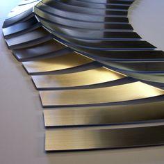 WAVE detail by Melanie Guy, Metal, pewter on board Wall Sculptures, Sculpture Art, Sculpture Ideas, Laser Cut Panels, Digital Fabrication, Wave Art, Metal Homes, Installation Art, Art Installations